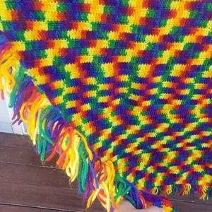 Other - Big Rainbow Hand Crocheted Blanket Throw